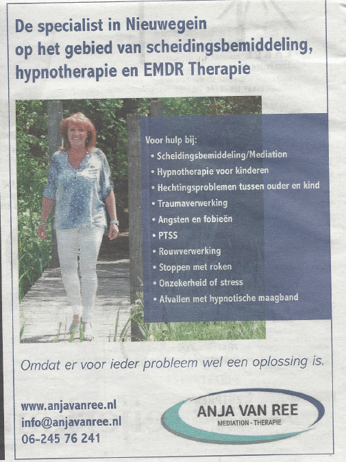 Anja van Ree Mediation - Therapie
